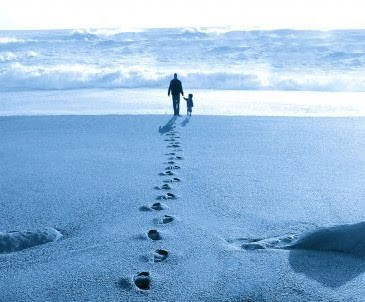 Father & Child footsteps