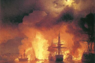 ivan-aivazovsky-battle-of-cesme-at-night-7c12