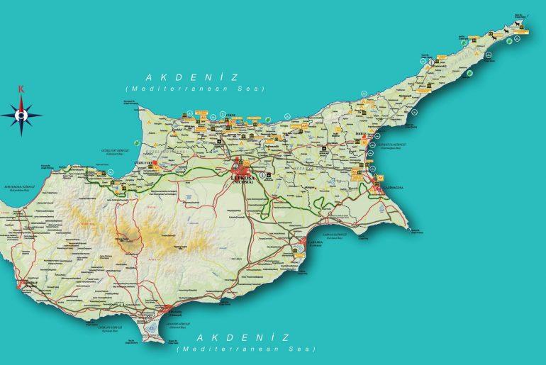 kibris_karayollari_haritasi