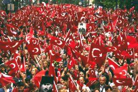 türk bayrağı yürüyüş